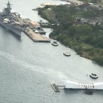 Pearl Harbor & Arizona Memorial from Helicopter
